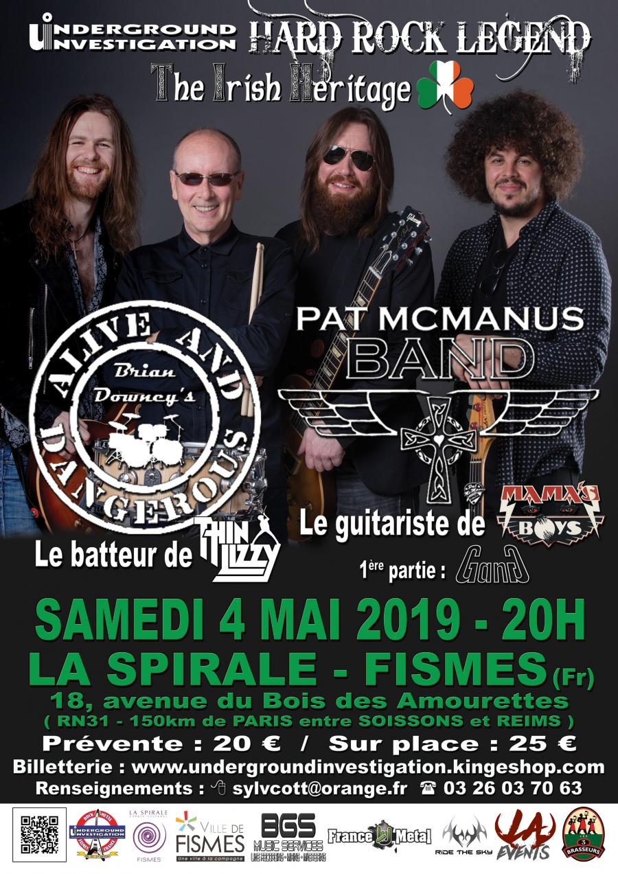 Brian Downey's Alive And Dangerous @ Fismes