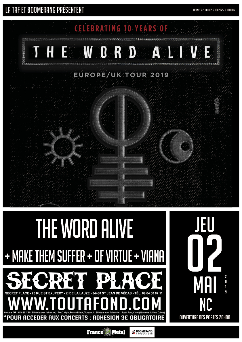 The Word Alive & Make Them Suffer & Of Virtue