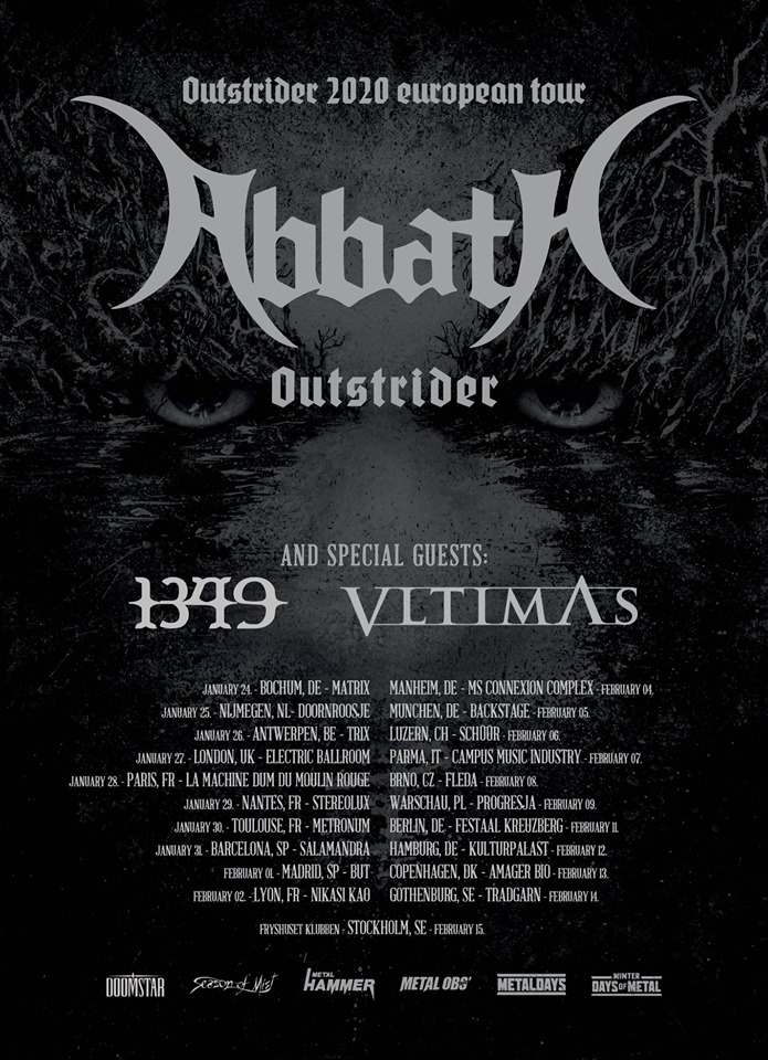 Abbath - Outstrider Tour 2020