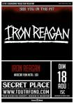 Iron Reagan + B.M.B  +Get Real à Montpellier