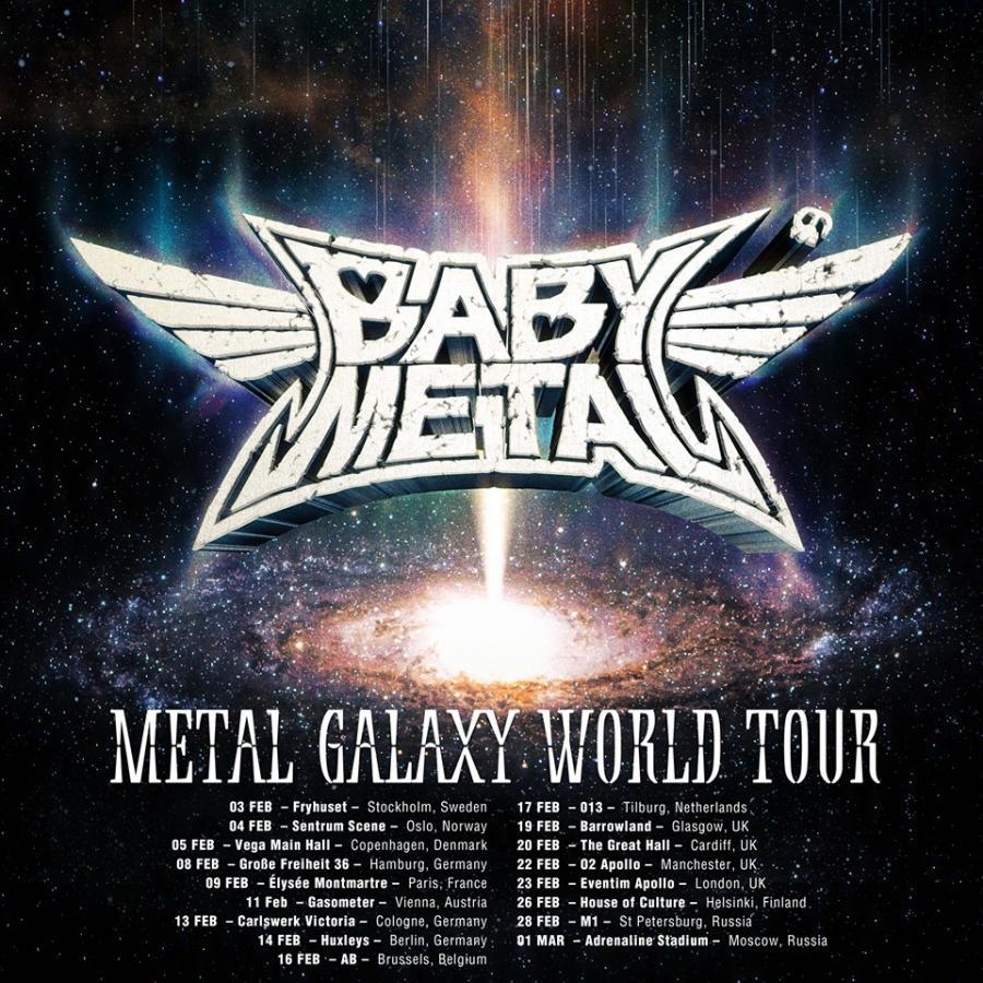 Metallica Tour 2020.Babymetal Tour 2020 28 02 2020 St Petersburg