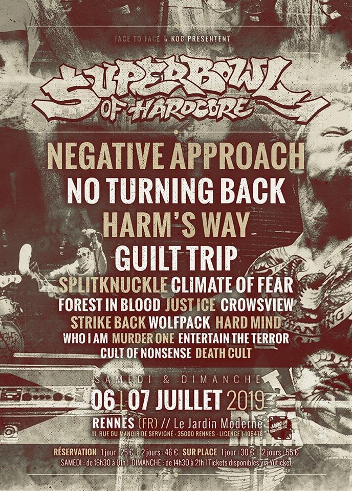 Superbowl of Hardcore 2019 - 06/07/2019 (2 Tage) - Rennes ...