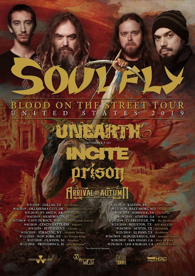 Soulfly - Tour 2019