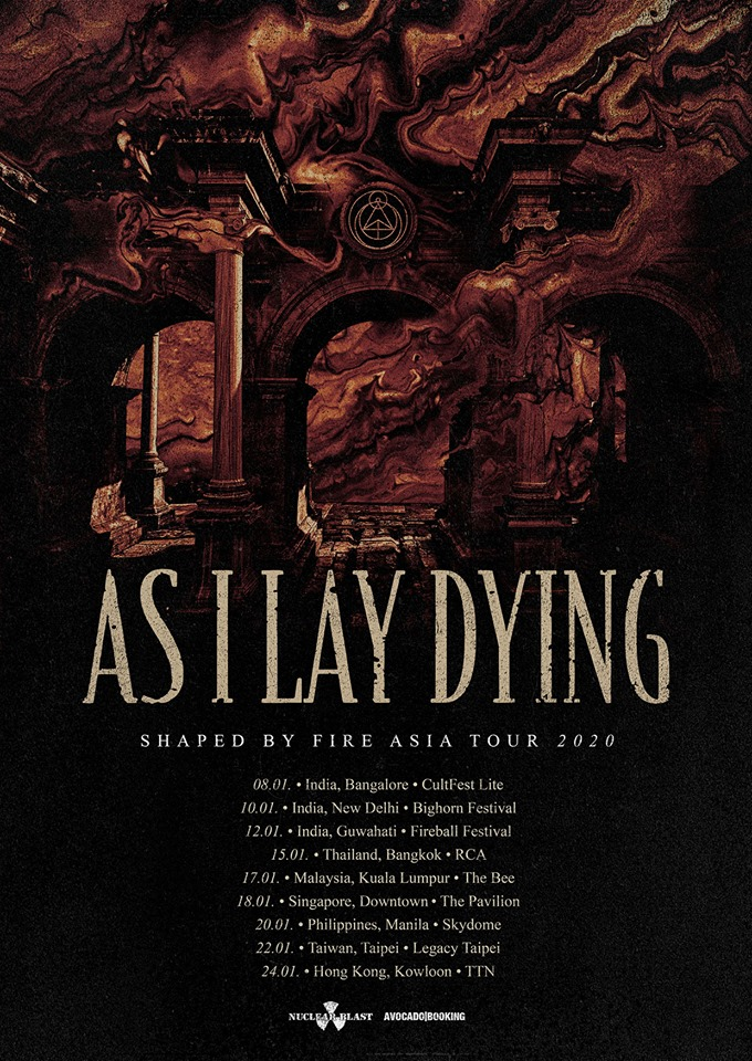 Asian Festival 2020.As I Lay Dying Tour 2020 18 01 2020 Downtown