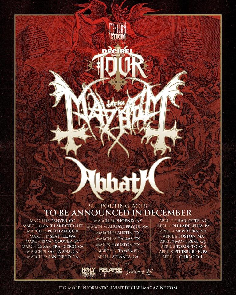 Mayhem Festival 2020.Mayhem Abbath Tour 2020 08 04 2020 Toronto Ontario