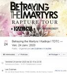 Betraying The Martyrs + Kadinja + TDTC